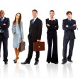 Young attractive business - elite business team — Stock Photo #4262420