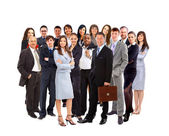 Group of happy business ,isolated — Stock Photo
