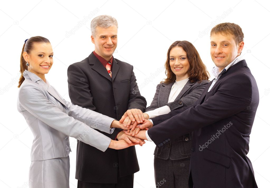 A group of business shanking hands  Stock Photo #4263134