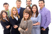 Visionary young business group - Mature business man with his colleagues in — Stock Photo