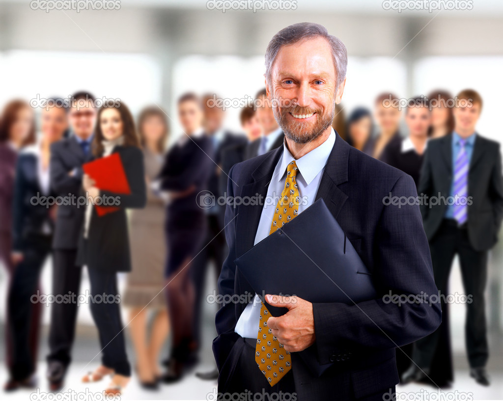 Teamwork concept with manager — Stock Photo #4296521