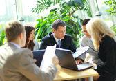 Business team having a meeting — Стоковое фото