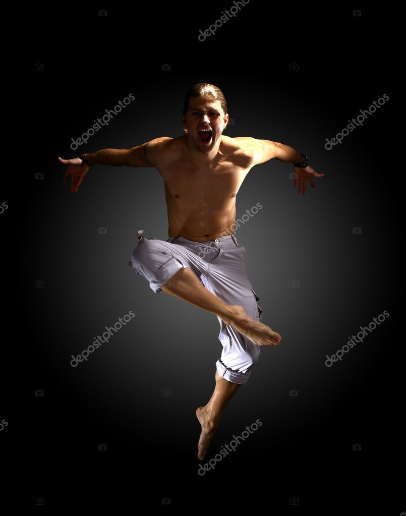 Stylish and young modern style dancer is posing — Stock Photo #4303669