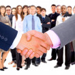 Handshake isolated on business background — Stock Photo #4335115