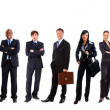 Young attractive business - the elite business team — Stock Photo #4335793