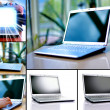 Collection of six laptops — Stock Photo #4335838