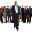 Business man and his team isolated over a white backgroun - Stockfoto