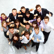 Top view of business with their hands together in a circle — Stock Photo #4336082
