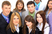 Top view of a group of business — Stock Photo