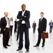 Business man and his team isolated over a white backgroun — Stock Photo #4461591
