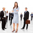 Young attractive business - elite business team — Stock Photo #4461614