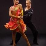 Dancers against black background — Stock Photo #4461954