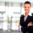 Business woman. Isolated over white background — Stock Photo #4462031