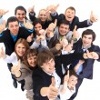 Large group of business . Over white background — Stock Photo #4462955