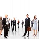 mladá atraktivní business - elitní obchodní tým — Stock fotografie