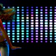 Beautiful young woman dancing in the nightclub — Stock Photo #4589554