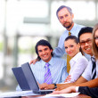 Business team in office — Stock Photo #4589742