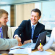 Business shaking hands, finishing up a meeting — Stock Photo #4589828