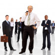 Business man and his team isolated over a white background — Stock Photo #4589884