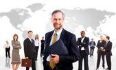 Gruppo di lavoro. isolato su sfondo bianco — Foto Stock