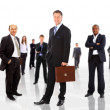 Business man and his team isolated over a white background — Stock Photo #4660173
