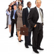 Business man and his team isolated over a white background — Stock Photo #4668412