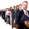 Businessman and his team — Stock Photo #4668540