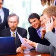 Business team in office — Stock Photo #4672979