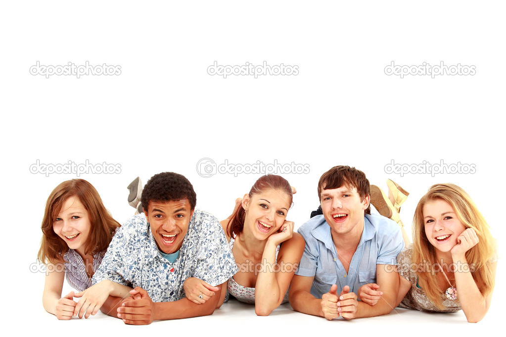 Portrait of laughing young friends having fun  — Stock Photo #4673106