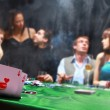 Group of sinister poker players — 图库照片