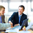 Business shaking hands, finishing up a meeting — Stock Photo #4813822