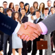 Handshake isolated on business background — Stock Photo #4823620