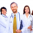 Portrait of group of smiling hospital colleagues standing together — Stock Photo #4823748