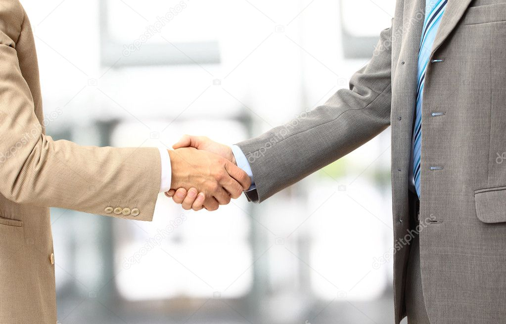Handshake isolated in office  — Stock Photo #4824680