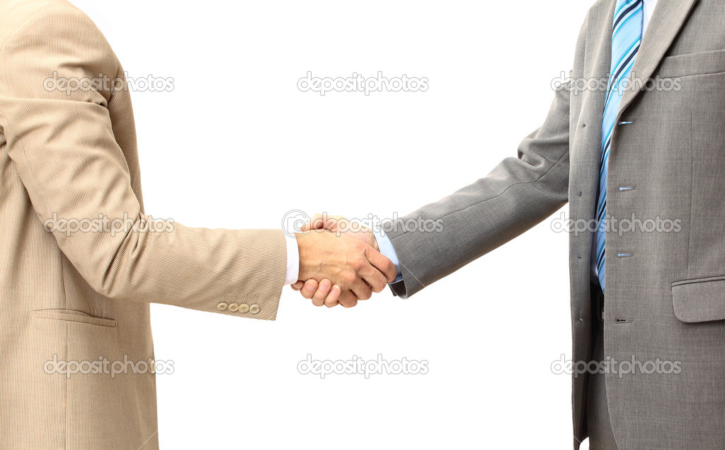Handshake isolated on white background  — Stock Photo #4824799