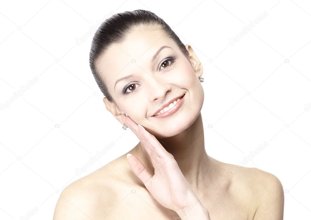 Portrait of young woman with health skin of face — Stock Photo #4826695