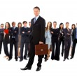 Business man and his team isolated over a white background — Stock Photo #4839498