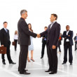 Handshake isolated on business background — Stock Photo #4843115