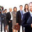 Business man and his team isolated over a white background — Stock Photo #4843477
