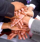 Handshake a týmová práce — Stock fotografie