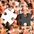 Royalty-Free Stock Photo: Group of business in pieces of a puzzle