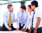 Business in a work meeting in the office — Stock Photo