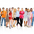 Big group young — Stock Photo #4909151