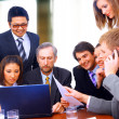 Stok fotoğraf: Business in a work meeting in the office