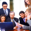 Business in a work meeting in the office — Stock Photo #4909233