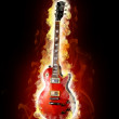 Fire electric guitar — Stock Photo #4909355