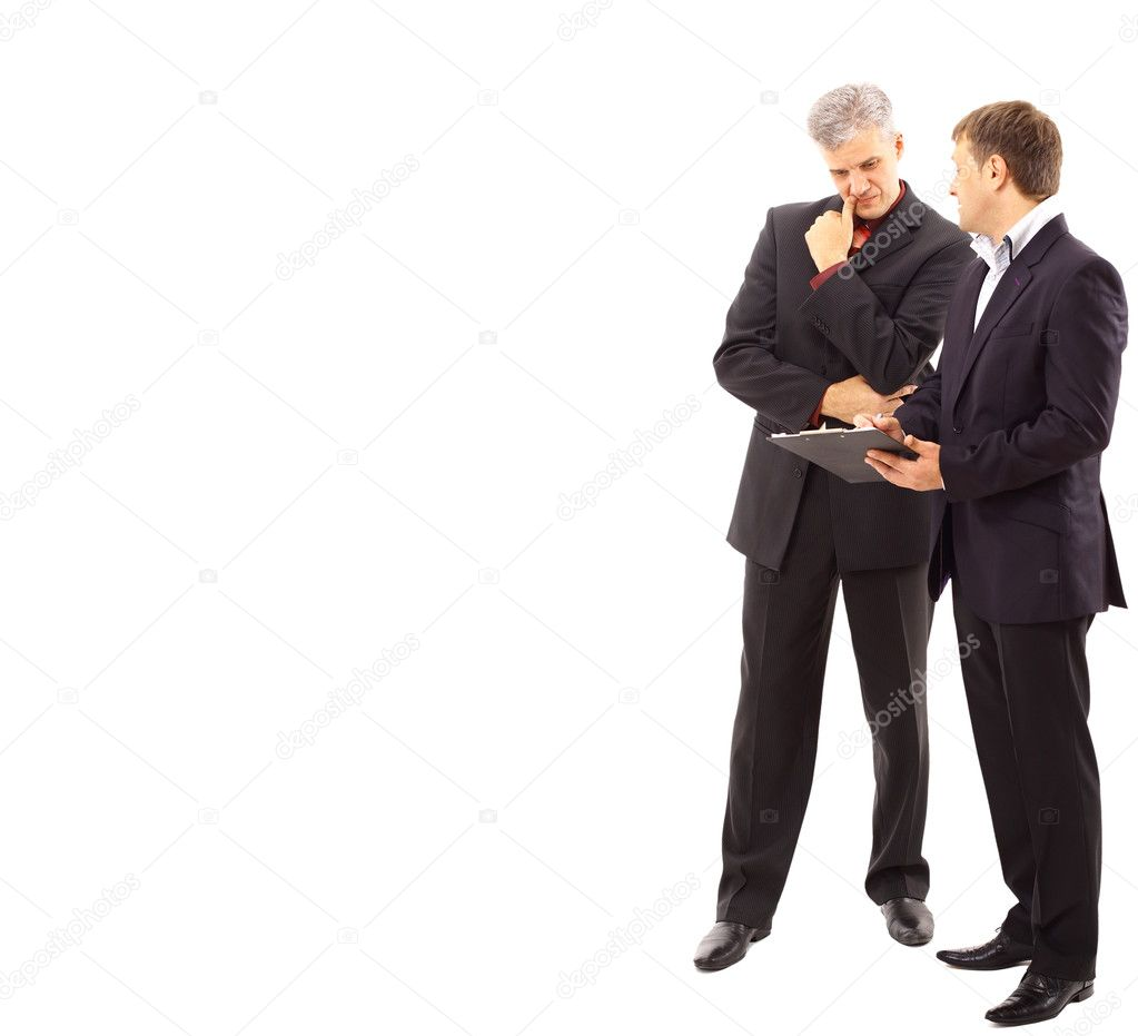 Two businessmen discussing - Isolated studio picture in high resolution.  — Stock Photo #4909410