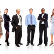Business and team. Isolated over white background — Stock Photo