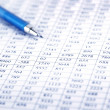 Checking balance - preparation of a balance sheet - Stock Photo