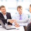 Business shaking hands, finishing up a meeting — Stock Photo #5032659